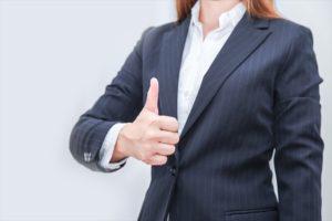 女性の面接用スーツ